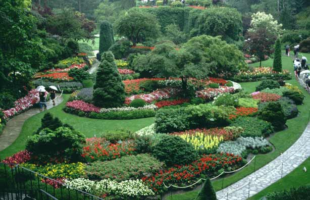 Butchart garden canada gardens parks squares and for Beautiful garden pictures of the world