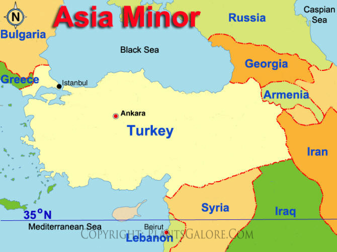 Types: Map of Asia Minor   Ornamental Plant Information from