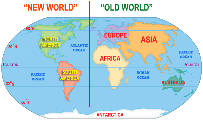 Types map of old world vs new world ornamental plant types map of old world vs new world ornamental plant information from plantsgalore sciox Image collections